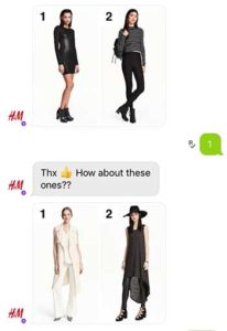 H&M Chat bot Example